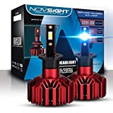 NOVSIGHT H7 10000LM Car LED Headlight Bulbs Conversion Kit,High beam Low Beam Headlamp,