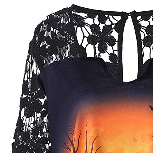 Amazon.com: Big Promotion!Toimoth Fashion Women Halloween Lace Patchwork Asymmetrical T-Shirt Tops Blouse,: Clothing