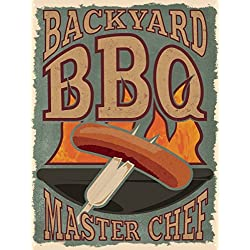Backyard BBQ Master Chef Tin Sign 30.5x40.7cm by Grindstore