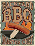 Grindstore Backyard BBQ Master Chef Tin Sign 30.5x40.7cm