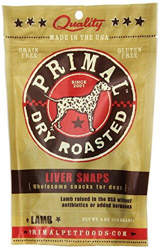 Primal Pet Foods Lamb Liver Snaps Dog Treat (Pack of 2)