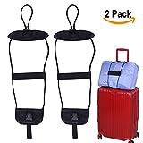 #8: Bag Bungee, Add a bag Luggage Strap Belt Suitcase Bag Strap Bungee Set of 2 Easy Bag Bungee Prime