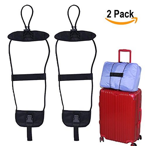Bag Bungee, Add a bag Luggage Strap Belt Suitcase Bag Strap Bungee Set of 2 Easy Bag Bungee Prime
