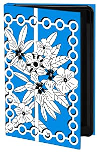 Keka Classic Ruth Collyer UK Inspiration Kew - Funda con cierre para iPhone 4/4S, diseño de flores, color azul y blanco