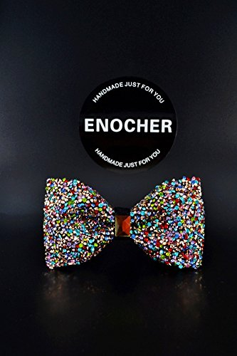 Colorful Rhinestone Bow Tie, Men Bow Tie, Self Tie Bow Tie, Bow Tie For Men, Gentleman, Business, Wedding, Gift, Fashion, High-end, Luxury, Shine, Cool