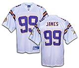 Minnesota Vikings NFL Erasmus James #99 Men's Replica Jersey, White