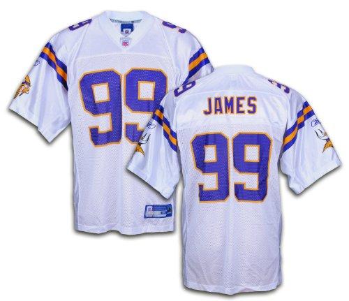 Minnesota Vikings NFL Erasmus James #ninety nine Men's Replica Jersey, White – Sports Center Store