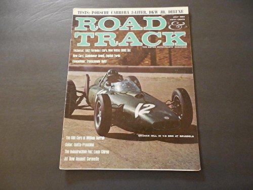 Road Track Jul 1962 Porsche Carrera 2 Liter; V-8 BRM; Formula -