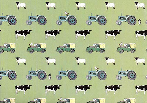 (Sophie Allport On The Farm Rolled Gift Wrap 2 Sheets 19.5 in x 27.5 in)