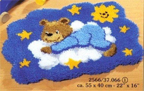 Vervaco Knüpf Teppich Motiv Bär in Wolken