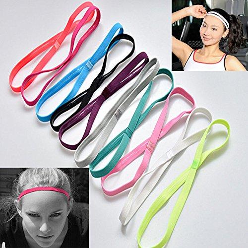 UNAKIM--Slim Single Sports Elastic Headband Softball Soccer Yoga Anti-Slip Hair Band