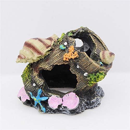 Inveroo Adornos para acuarios Barril de Resina Ocultar Cueva Reptil Tortuga Caja Acuario Tanque de Peces Barril Artificial Paisajismo para decoración de acuarios: Amazon.es: Productos para mascotas