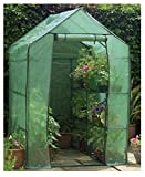 Happy Planter Walk-in Portable Greenhouse with Shelving, 6'3″ x 4′ x 6'3″ Review