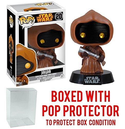 Funko Pop! Star Wars: Jawa #20 Vaulted Edition Vinyl Bobble-Head Figure (Bundled with Pop BOX PROTECTOR CASE)