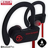 Image of Bluetooth Headphones ZEUS OUTDOOR Wireless Earbuds HD Stereo Waterproof IPX7 Sweatproof Sports Earphones with Mic Best Wireless Headphones for Running Sport Workout Noise Cancelling Bluetooth Headset