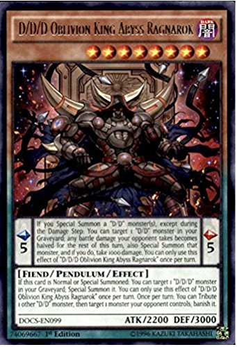 Yu-Gi-Oh! - 3X D/D/D Oblivion King Abyss Ragnarok (DOCS-EN099) - Dimension of Chaos - 1st Edition - Rare