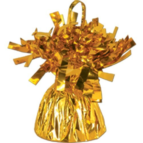 Forum Novelties FBA_50804-GD, Gold Metallic Balloon Weight, 6oz