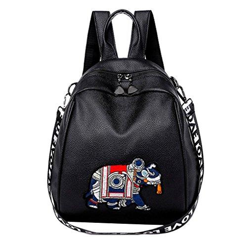 YJYDADA Bag,Fashion Simple Hand Lading Shoulder Bag Messenger Bag Slanting Mini Backpack (Black)
