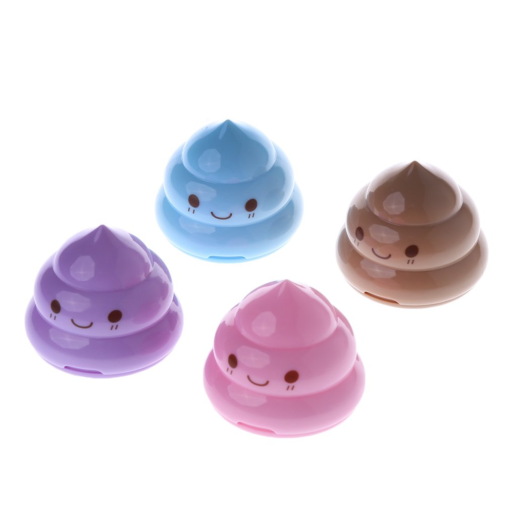 Wodwad Cute Shit Shape Pencil Sharpener For Student Office Stationery School Supplies - Great Quality (1)