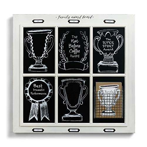 (Redrock Traditions Family Award Board Window Pane 23 x 24 Distressed White Wood Sign Plaque )