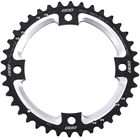 BBB 2909694138 Plato de Bicicleta, Unisex, Negro, MTB 2X10 38T/120 ...