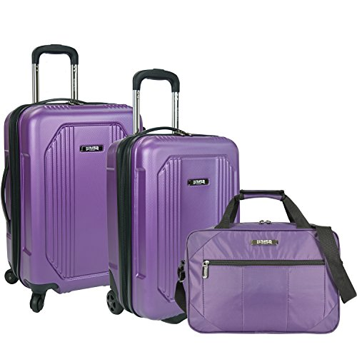 us-traveler-bloomington-3-piece-carry-on-luggage-set-purple