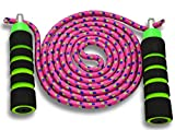 Anna's Rainbow Double Dutch Jump Rope - 14ft Long Skipping Rope for Indoor/Outdoor/Playground - Durable Adjustable 8mm...