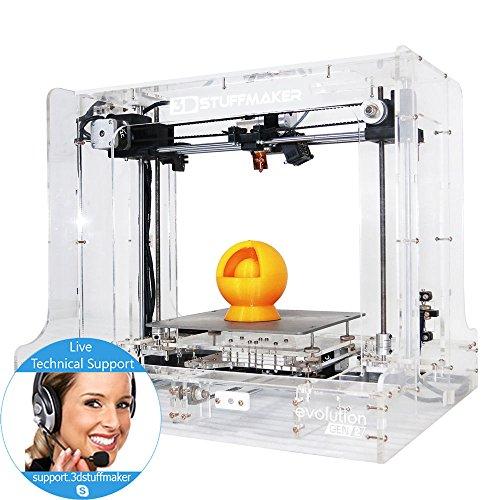 3d Printer Kit - 3d Stuffmaker Evolution(transparent) Gen 2 Diy Kit Iprint Technologies Printers