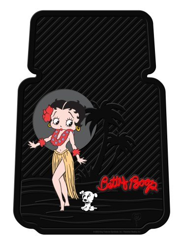 Betty Boop w/ Dog Aloha Hula Luau Style - 2 pc Floor Mats
