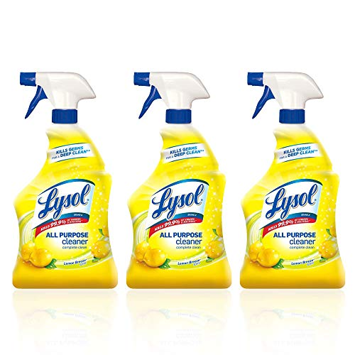 Lysol All Purpose Cleaner Spray, Lemon Breeze 32 oz (Pack of 3)