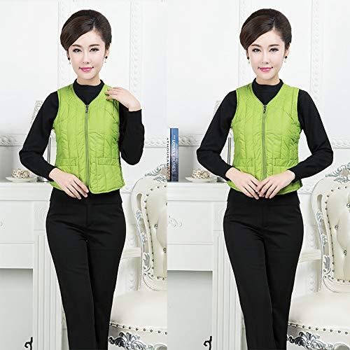 Quilted Vest Green KINDOYO Sleeveless Coat Jacket Collar Vest Down Womens Gilet Warmers V Body Oxgavx