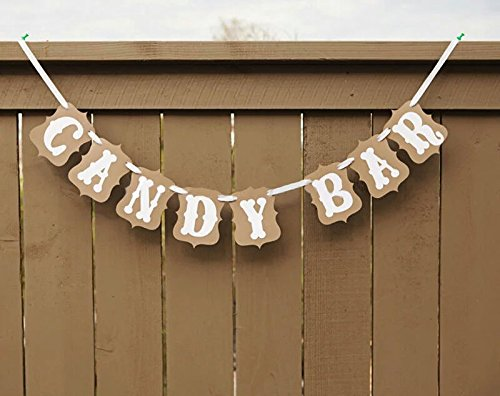 Baby Shower Sweet Baby Candy Bar Banner Bunting Garland Wedding Party DIY Romantic Vintage Decoration