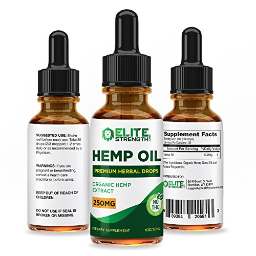 Hemp Oil Drops :: Improved Formula :: Promotes Relaxation and a Sense of Calm:: Encourages Cardiovascular Health:: 30 Day Supply - 30ML Bottle:: Elite Strength Labs by Elite Strength Labs (Image #4)