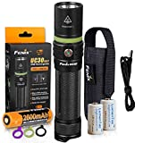 FENIX UC30 2017 Edition 1000 Lumen USB Rechargeable LED Flashlight with Rechargeable 2600mAh 18650 Battery, Holster, USB Charging Cable and 2x Backup LumenTac CR123A Batteries