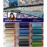 Aurifil Thread Set SEASCAPE By Sheena Norquay 50wt 100% Cotton 12 Large (1422 yard) Spools