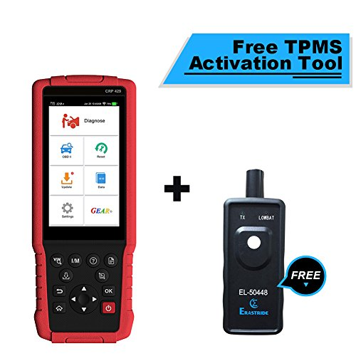 LAUNCH Scan Tool Scanner CRP429 OBD2 Scanner All System Diagnostic Tool with Injector Coding ABS Bleeding Oil Reset EPB BMS SAS DPF and IMMO + TPMS Activation Tool Gift