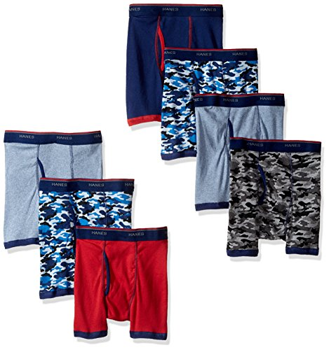 Hanes Boys Red Label Comfort Flex Sport Ringer Boxer Briefs 7 Pack, Assorted, Large
