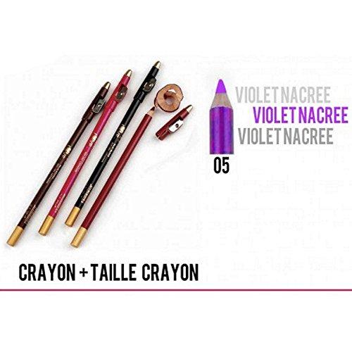 CRAYON VIOLET FLASHY 2 EN 1 LEVRE ET YEUX AVEC TAILLE CRAYON YES LOVE