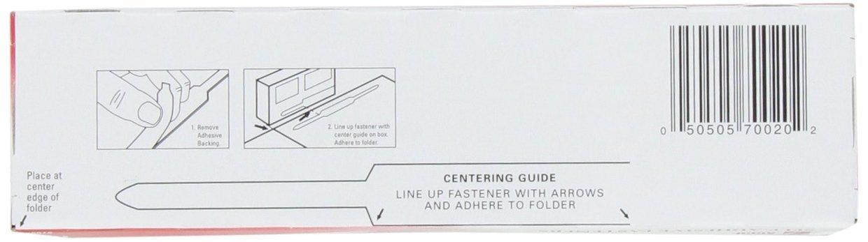 2 Capacity 100 Fasteners//Box Economy 1 Case A7070020CS 15 Boxes//Case ACCO Self-Adhesive Fasteners