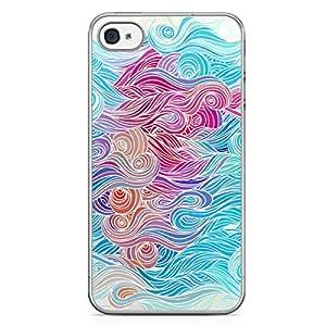 Waves iPhone 4s Tranparent Edge Case - Design 1