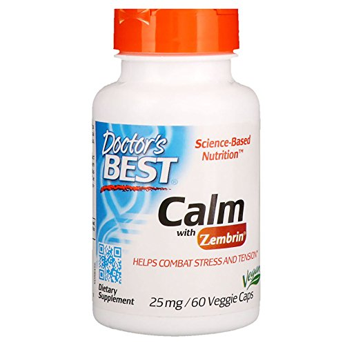 Doctor's Best Calm with Zembrin 25mg Veggie Caps, 60Count
