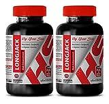 Libido supplements for men - LONGJACK - MALE ENHANCEMENT - UP YOUR SIZE - Tongkat ali long jack 120 capsules - 2 Bottles 120 Capsules