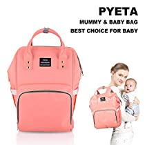 Diaper Bag Nappy Bags for Baby Care Multi-Function Mommy Bag Waterproof Travel Backpack Large Capacity Stylish and Durable Perfect for Travel Work or Outing PYETA