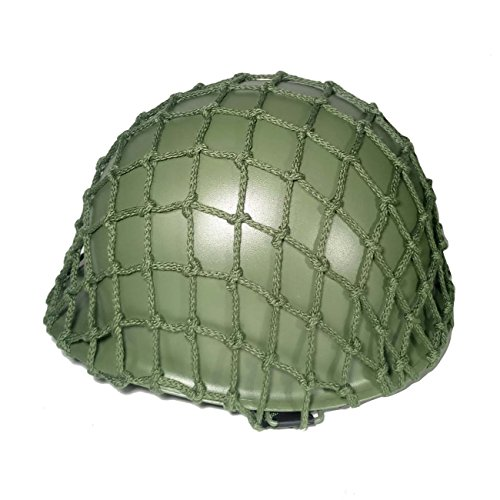 ANQIAO WWII WW2 US Soldier M1 Helmet Net Cover Heavy Duty Green Reproduction Tactical Helmet Webbing Cover