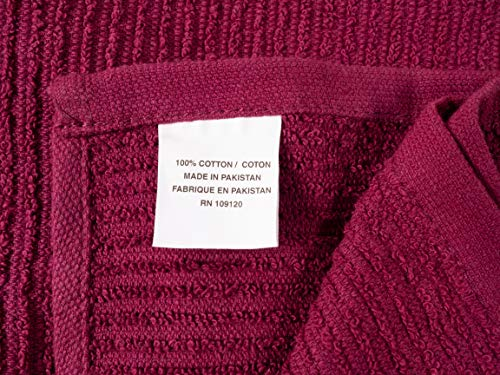 KAF Home Pantry Piedmont Kitchen Towels (Set of 8, 16x26 inches), 100% Cotton, Ultra Absorbent Terry Towels - Wine Red by KAF Home (Image #5)