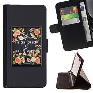For HTC One M7 Case , Amor de Primavera Gris Rosa melocotón de Verano- la tarjeta de Crédito Slots PU Funda de cuero Monedero caso cubierta de piel
