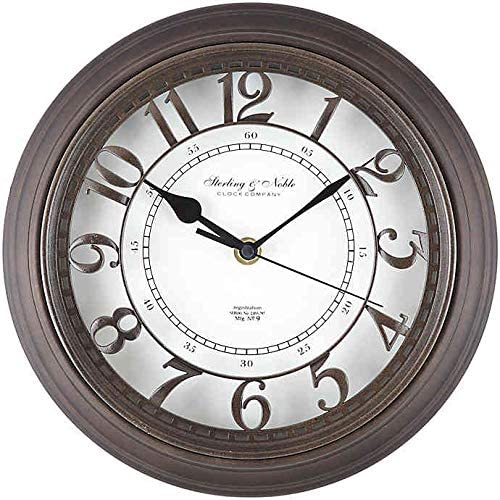 Sterling Noble Raised Arabic Grill Round Wall Clock In Bronze Home Kitchen