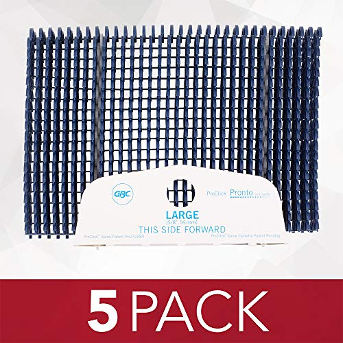 GBC ProClick Easy-Editing Binding Spines, Pronto P3000 Spine Cassette, Large, Navy, 100 Sheet Capacity, 100 Spines Per Box (2515705) -