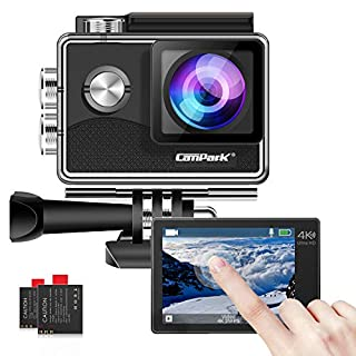 Campark X15 4K Action Camera with Touch Screen EIS Anti-Shake WiFi Waterproof Cam 30m Underwater with Mount Accessory Kits, Compatible with GoPro