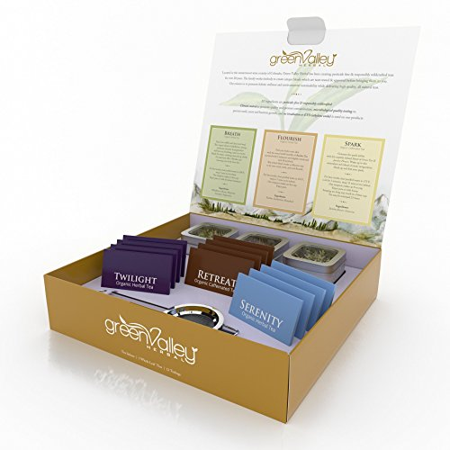 [Tea Gift Basket Sample Box - Gourmet Teas Like You've Never Tasted Before - Organic Whole Leaf Tins & Bags - 6 Assorted Teas Including Green Jasmine Flower & Rooibos - Infuser Included - Colorado] (Wine And Cheese Couples Costume)